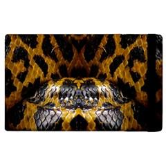Textures Snake Skin Patterns Apple iPad 2 Flip Case