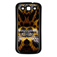 Textures Snake Skin Patterns Samsung Galaxy S3 Back Case (Black)