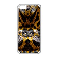 Textures Snake Skin Patterns Apple iPhone 5C Seamless Case (White)