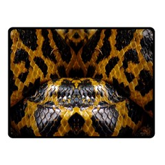 Textures Snake Skin Patterns Double Sided Fleece Blanket (Small)