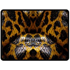 Textures Snake Skin Patterns Double Sided Fleece Blanket (large)