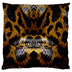 Textures Snake Skin Patterns Standard Flano Cushion Case (Two Sides)