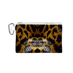 Textures Snake Skin Patterns Canvas Cosmetic Bag (s)