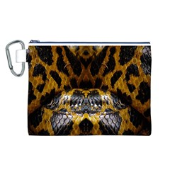 Textures Snake Skin Patterns Canvas Cosmetic Bag (l)