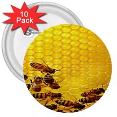 Sweden Honey 3  Buttons (10 Pack)