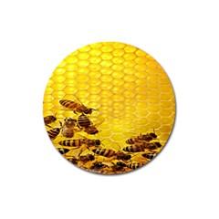 Sweden Honey Magnet 3  (round)
