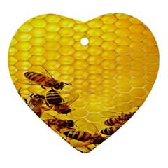 Sweden Honey Heart Ornament (two Sides)