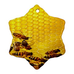 Sweden Honey Snowflake Ornament (Two Sides)