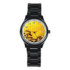 Sweden Honey Stainless Steel Round Watch