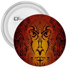 Lion Man Tribal 3  Buttons