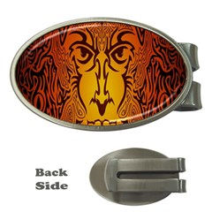 Lion Man Tribal Money Clips (Oval)