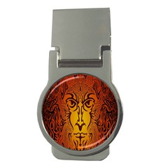 Lion Man Tribal Money Clips (Round)