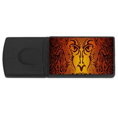 Lion Man Tribal USB Flash Drive Rectangular (2 GB)