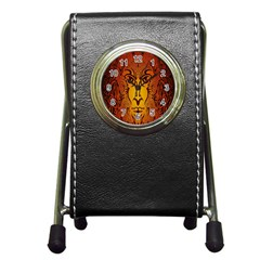 Lion Man Tribal Pen Holder Desk Clocks