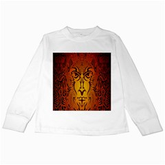Lion Man Tribal Kids Long Sleeve T-Shirts