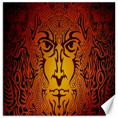 Lion Man Tribal Canvas 16  X 16