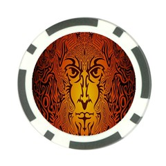 Lion Man Tribal Poker Chip Card Guard (10 Pack)