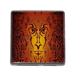 Lion Man Tribal Memory Card Reader (Square)