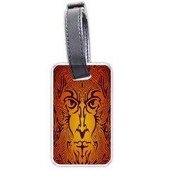 Lion Man Tribal Luggage Tags (One Side)