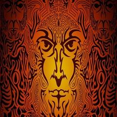 Lion Man Tribal Magic Photo Cubes