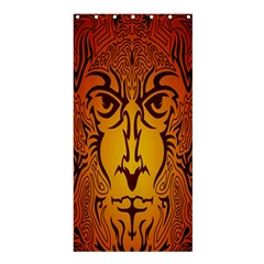 Lion Man Tribal Shower Curtain 36  x 72  (Stall)
