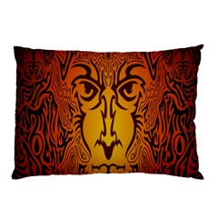 Lion Man Tribal Pillow Case (two Sides)