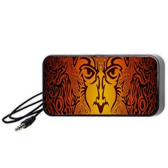 Lion Man Tribal Portable Speaker (Black)