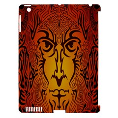 Lion Man Tribal Apple Ipad 3/4 Hardshell Case (compatible With Smart Cover)