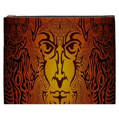 Lion Man Tribal Cosmetic Bag (XXXL)