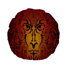Lion Man Tribal Standard 15  Premium Round Cushions