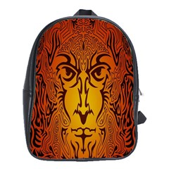 Lion Man Tribal School Bags (XL)