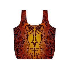 Lion Man Tribal Full Print Recycle Bags (s)