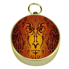 Lion Man Tribal Gold Compasses