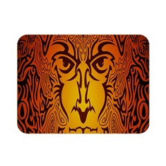Lion Man Tribal Double Sided Flano Blanket (mini)