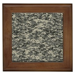 Us Army Digital Camouflage Pattern Framed Tiles
