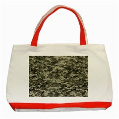 Us Army Digital Camouflage Pattern Classic Tote Bag (red)