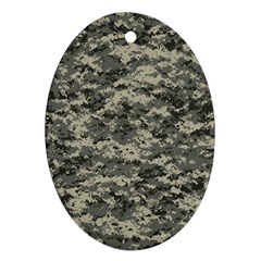 Us Army Digital Camouflage Pattern Oval Ornament (Two Sides)