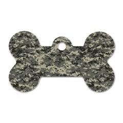 Us Army Digital Camouflage Pattern Dog Tag Bone (one Side)