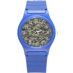 Us Army Digital Camouflage Pattern Round Plastic Sport Watch (s)