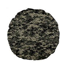 Us Army Digital Camouflage Pattern Standard 15  Premium Round Cushions