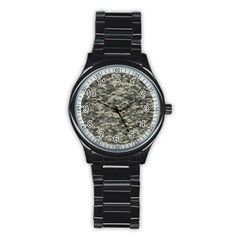 Us Army Digital Camouflage Pattern Stainless Steel Round Watch