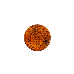 Vector Seamless Pattern With Spider Web On Orange 1  Mini Magnets