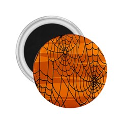 Vector Seamless Pattern With Spider Web On Orange 2.25  Magnets
