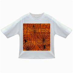 Vector Seamless Pattern With Spider Web On Orange Infant/Toddler T-Shirts