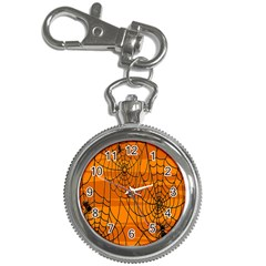 Vector Seamless Pattern With Spider Web On Orange Key Chain Watches