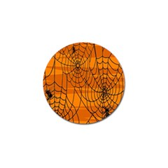 Vector Seamless Pattern With Spider Web On Orange Golf Ball Marker (10 Pack)
