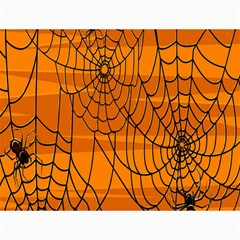 Vector Seamless Pattern With Spider Web On Orange Canvas 12  x 16