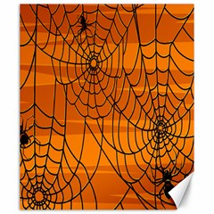 Vector Seamless Pattern With Spider Web On Orange Canvas 20  X 24