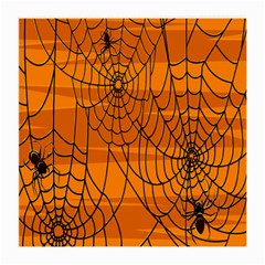 Vector Seamless Pattern With Spider Web On Orange Medium Glasses Cloth (2-Side)