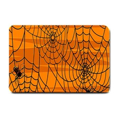 Vector Seamless Pattern With Spider Web On Orange Small Doormat